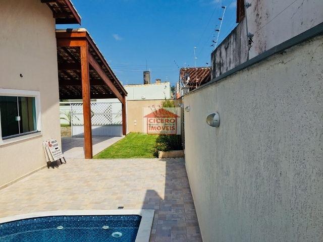 Casa nova c/ piscina 150m da p